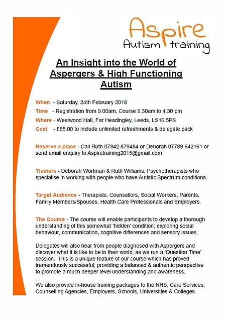 Aspire Autism Training. feb2018